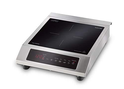 CASO ProChef 3500 Induktionskochplatte mobil, Leistungsstarke 3500 Watt, 60-240°C, Warmhalte-Modus, 24h Timer, Töpfe bis 26cm, Glaskeramik Edelstahl