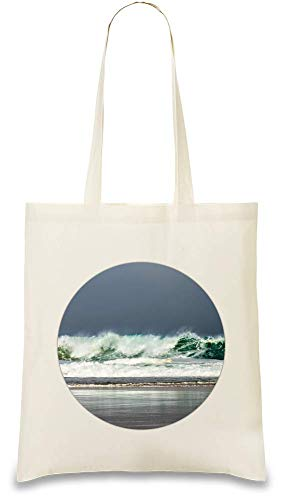 Sturm im Ozean - Storm In The Ocean Custom Printed Tote Bag| 100% Soft Cotton| Natural Color & Eco-Friendly| Unique, Re-Usable & Stylish Handbag For Every Day Use| Custom Shoulder Bags By Josh God