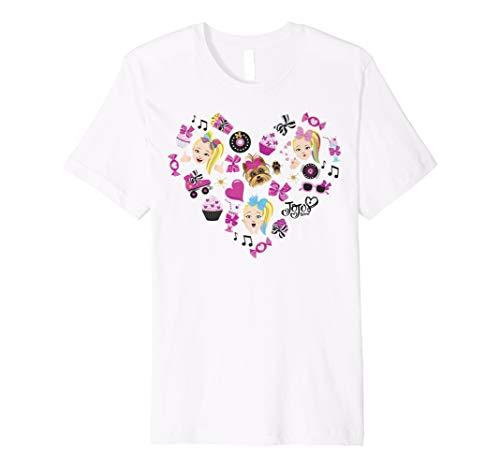 JoJo Siwa Emoji Heart Cupcakes And Candy Premium T-Shirt