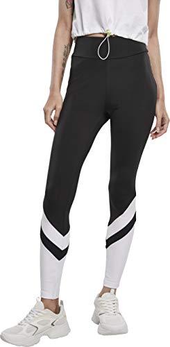 Urban Classics Damen Ladies Arrow High Waist Leggings, Black/White, S