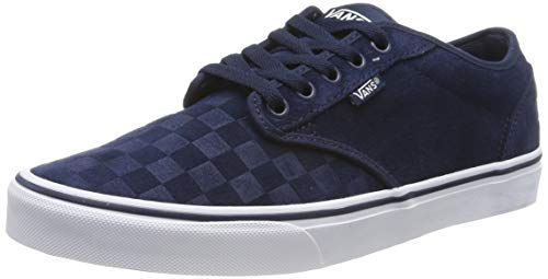 Vans Atwood, Zapatillas para Hombre, Azul ((Suede Emboss) Dress Blues/White Uyi), 46 EU