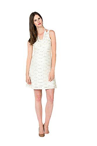 Kleid Luthien Elegantes Brautkleid Hochzeitskleid Umstandsbrautkleid (M (38-40), Creme (Off White))