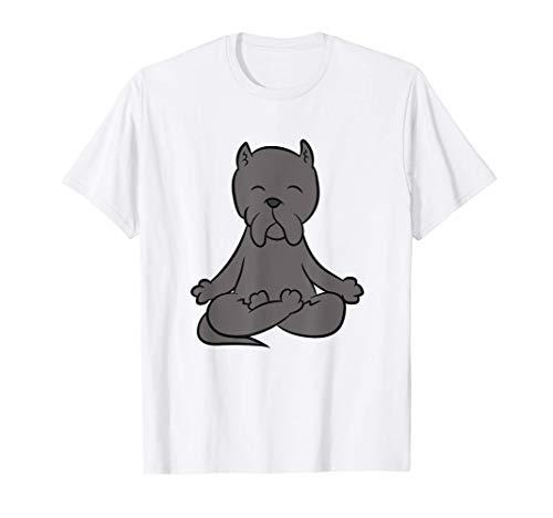Relajación del Mastín Italiano Cane Corso Yoga para perros Camiseta
