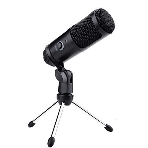 FKSDHDG Grabación de micrófonos de Condensador USB para PC, computadora portátil, podcasting de Voz para Soporte de micrófono