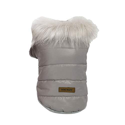 MagiDeal Chaqueta de Invierno para Perros Abrigo de Clima Frío para Perros Chaquetas de Abrigo para Perros - Gris M