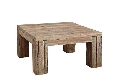 Table basse carrée - Bois massif de teck brut recyclé (Bois naturel) - BASSANO