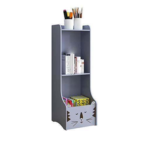 Boekenkast Boekenkast Boek Planken Eenvoudige Student Desktop Kleine Beeld Boek Opslag Huishouden Eenvoudige Vloer Woonkamer Children's Boekenkast Creatieve Boekenplank Grijs