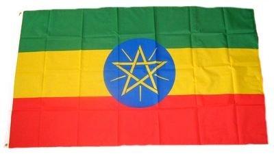Fahne / Flagge Äthiopien Wappen NEU 60 x 90 cm Flaggen by FahnenMax®