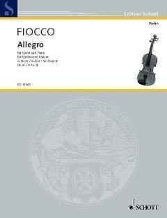 ALLEGRO - zaaranżowane na skrzypce - fortepian [nuty/Sheetmusic] Komponist : FIOCCO JOSEPH HECTOR