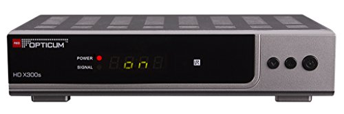 Opticum HD X300s HDTV-Satellitenreceiver (Full HD 1080p, HDMI, USB, S/PDIF CoXial, Scart) silber