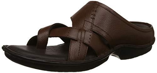 Lee Cooper Men's Tan Leather Flip Flops Thong Sandals-11 UK (45 EU) (LC1111CTAN)