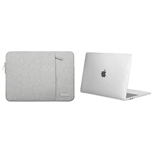 MOSISO Plastic Hard Case&Vertical Sleeve Bag Compatible with MacBook Pro 13 inch Case 2020 2019 2018 2017 2016 Release A2338 M1 A2289 A2251 A2159 A1989 A1706 A1708