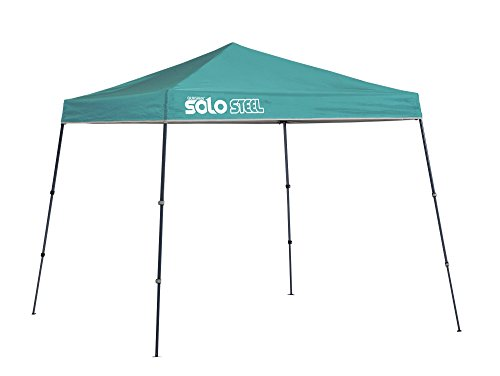 Quik Shade 9' x 9' Solo Steel 50 Square Feet of Shade Slant Leg Outdoor Pop-Up Canopy - Turquoise