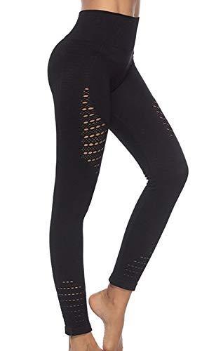 Green Unicorn - Mallas de Yoga y Pilates para Mujer (sin Costuras), Color Negro, tamaño Small