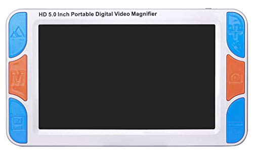 """Pantalla de 5 Pulgadas Lupa Digital de Mano Portátil Ayuda de Lectura Electrónica Visual Para Baja Visión (Versión Mejorada de 5"""")"""