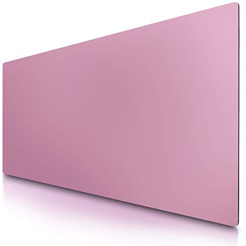 CSL - Alfombrilla de ratón XXL 900x400mm - Piel sintética de Primera Calidad - Revestimiento de Goma Antideslizante - Impermeable - Ideal para Mesa Escritorio Oficina en casa - Color Rosa Oscuro