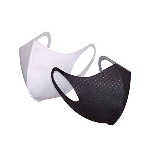 [ 5 PCS ] Florian Mamison Reusable, Wahshable Fashion Mask Black Color Mask for All (Free Size) Cold Weather [Korean fashion mask] [Individual package] (Black)
