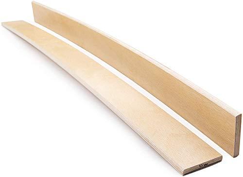 Green Design Lattenrost 53 mm breit, Buchenholz, Ersatzlatten für Einzelbett, Doppelbett, Klasse A, 3 Stück, holz Buche, 905 mm long