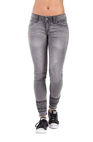 Blue Monkey Damen Jeans Luna, Cropped, grau, Gr.: 31