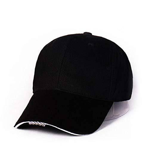 Gorra de béisbol LED Sombrero del algodón de la Linterna Manos Libres se Divierte el Casquillo del Faro Camping