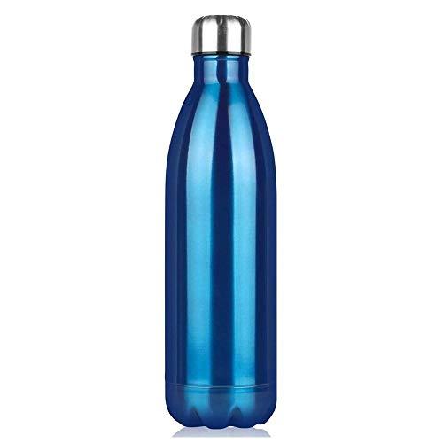 NYCROSSER vacuüm geïsoleerde fles roestvrij staal geïsoleerde waterfles voor sport, yoga, outdoor, kantoor, kinderen, school