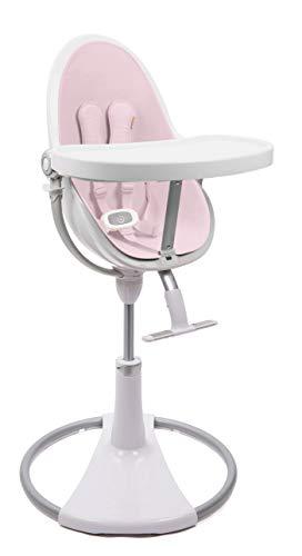 bloom Fresco loft Chrome Hochstuhl weiß mit Starterkit (Sitzeinlage) Rosewater pink