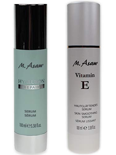 M. Asam® Vitamin E Hautglättendes Serum 100ml + Hyaluron Repair Serum 100ml