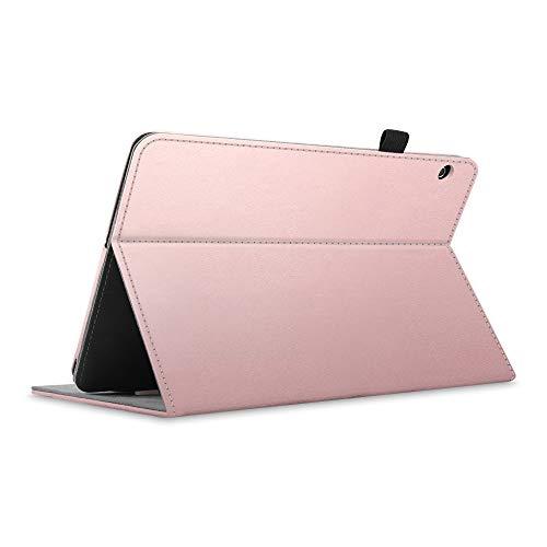 Fintie Hülle für Huawei MediaPad T5 10.1 - Kunstleder Multi-Winkel Betrachtung Folio Stand Schutzhülle mit Dokumentschlitze für Huawei MediaPad T5 10 10,1 Zoll 2018 Tablet,Roségold