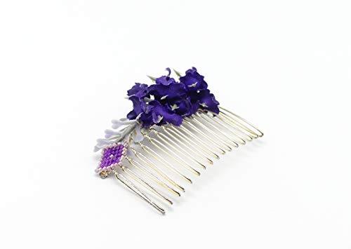 Hochzeit Accessoires Hochzeit Friseur Haarkamm Webperlen Lavendel lila lilac Silber Blume personalisierte Geschenke zeremonie Hochzeit Gäste Brautjungfertigkeit Zeugenpaar
