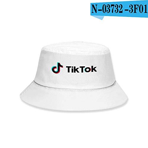 DFSF TIK Tok Hat Estudiante Pareja Pot Hat Sombrero para El Sol-Estilo L_XL (59-62 Cm)