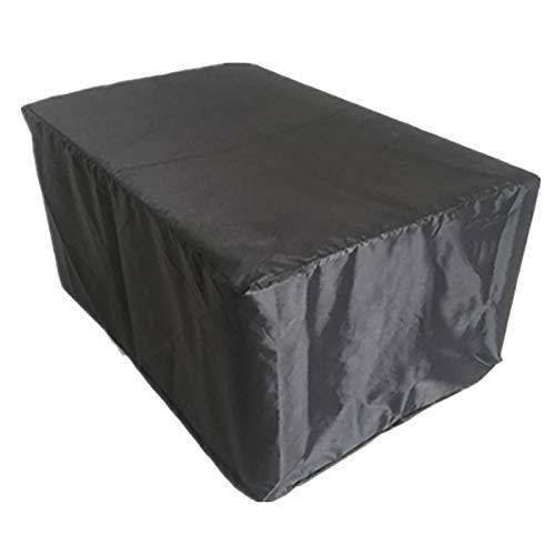 XXYANZI Funda Sofa Exterior Impermeable 152x104x71cm, Rectangular Cubierta para Muebles de jardín Impermeable Transpirable, para Baul PVC Jardin. - Negro