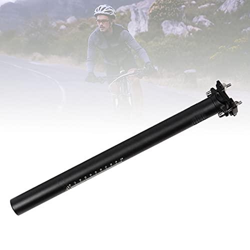 HIMABeauty Bicicletas Aluminio Tija de Sillín, Pernos Dobles Seat Post con Abrazadera Ajustable Micro diámetro 27.2 mm 30.9 mm 31.6 mm para Bicicletas de Ciudad y MTB Bicicletas,27.2mm