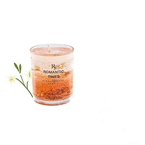 Vela de aromaterapia transparente (caja de regalo), aroma de flores, fruta, aceite esencial, sin humo, velas aromáticas para el hogar, velas de boda (6 A)