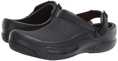 Crocs Unisex Men's and Women's Bistro Pro LiteRide Clog | Slip Resistant Work Shoes, Black, 12 US