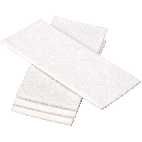 Adsamm® | 4 x selbstklebende Filzplatte | 80x180 mm | Weiß | rechteckig | 3.5 mm starker Filzzuschnitt in Top-Qualität von Adsamm®