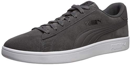 PUMA Men's Smash V2 Sneaker, Castlerock Black White, 10 M US