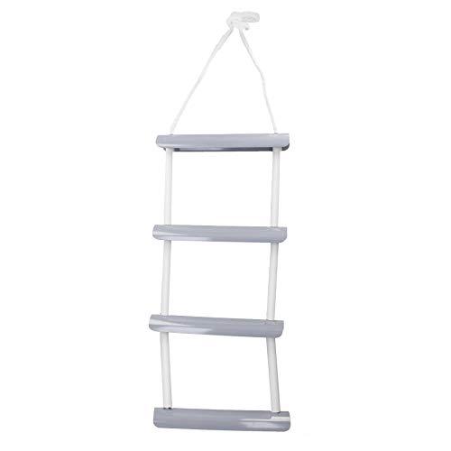 AB Tools 4 Step Boat Boarding Ladder Twist Rope Ladder Swim Safety Steps...