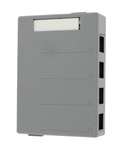 Leviton 41089-4GP QuickPort Surface Mount Housing, 4-Port, Grey by Leviton