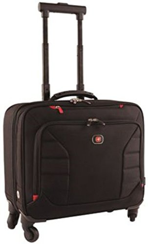 Wenger 600660 INTERCHANGE 17' Deluxe Wheeled Laptop Briefcase , Padded laptop compartment with overnight compartment in Black {25 Litres}