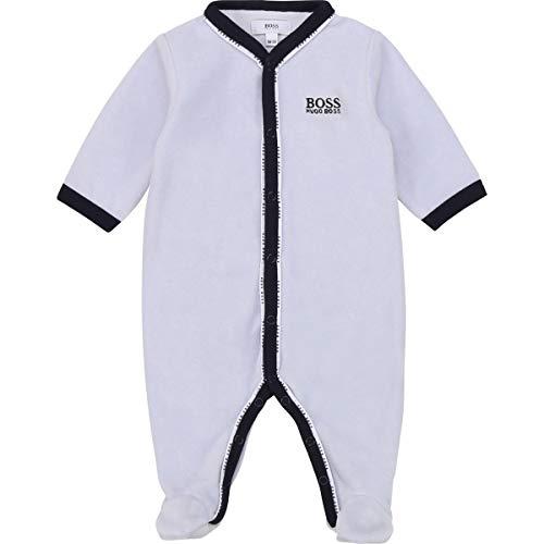 Hugo Boss Baby Strampler Bodysuit hellblau Samt mit Logo Paspeln 3-9 Monate, Größe: 6 Monate (62-68)
