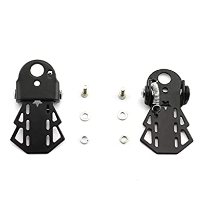 partstock 1 Pair Bike Metal Rear Pedals MTB Folding Footrests Cycling Accessories Bicycle Foot Pegs