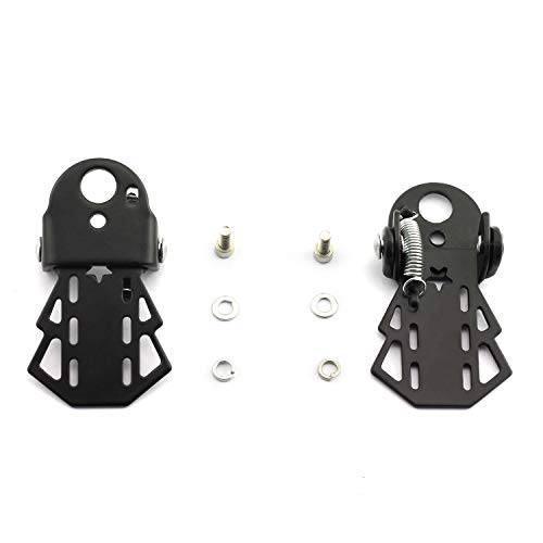 partstock 1 Pair Bike Metal Rear Pedals MTB Folding Footrests Cycling...