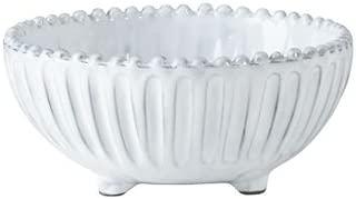 Vietri INC-1103A Footed Bowl, White