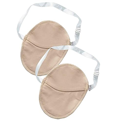 Whlucky 2 Pares Axila Sudor Shield Almohadilla Axila Absorbe Sudor Guardias Correa Hombro Ajustable Reutilizable Pads para Sudor,Beige,m