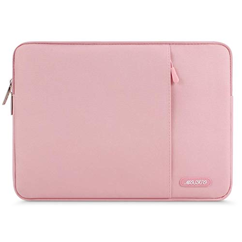 MOSISO Hülle Kompatibel mit 15 Zoll MacBook Pro Touch Bar A1990 A1707, ThinkPad X1 Yoga, 14 HP Acer Chromebook, 2019 Surface Laptop 3 15, Polyester Vertikale Stil Sleeve Hülle Laptoptasche, Rosa
