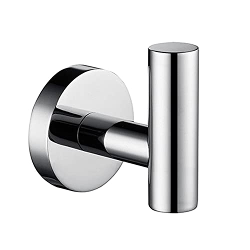 SDKFJ Sistema de Hardware de baño de Espejo Brillante, Soporte de Papel higiénico de Barra de Toalla Redonda, Toalla Anillo de Toalla Gancho de Acero Inoxidable Bastidor de Toalla