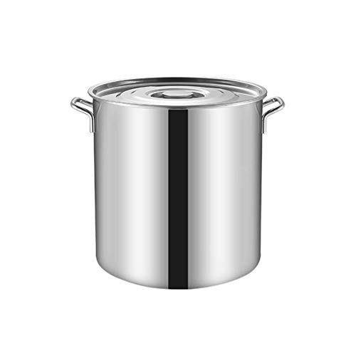 NBVCX - Cacerola de acero inoxidable con tapa (21 x 20,5 cm)