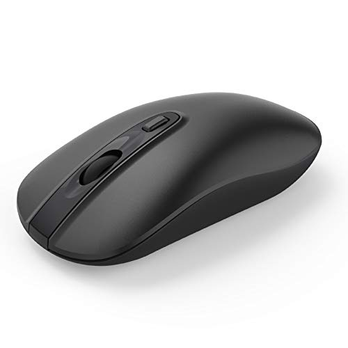 Mouse Wireless, Cimetech Mouse Silenzioso Portatile Ottico Senza Fili 2.4G con Ricevitore Nano, Compatibile con Windows 10/8/7/XP/Vista, per Business e Casa (Batteria, Nero)
