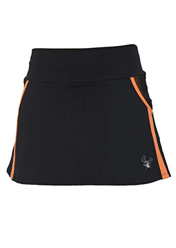 La Mouche Padel Falda Modelo Rejilla Negro y Naranja
