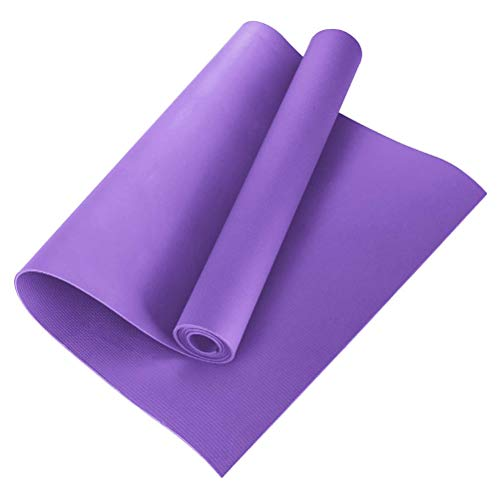 Hughdy - Tappetino da yoga in EVA antiscivolo, per fitness, yoga, pilates, a casa o in palestra, 4 mm